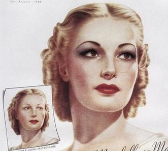 1940s-makeup-evening-look-hair-early-1941